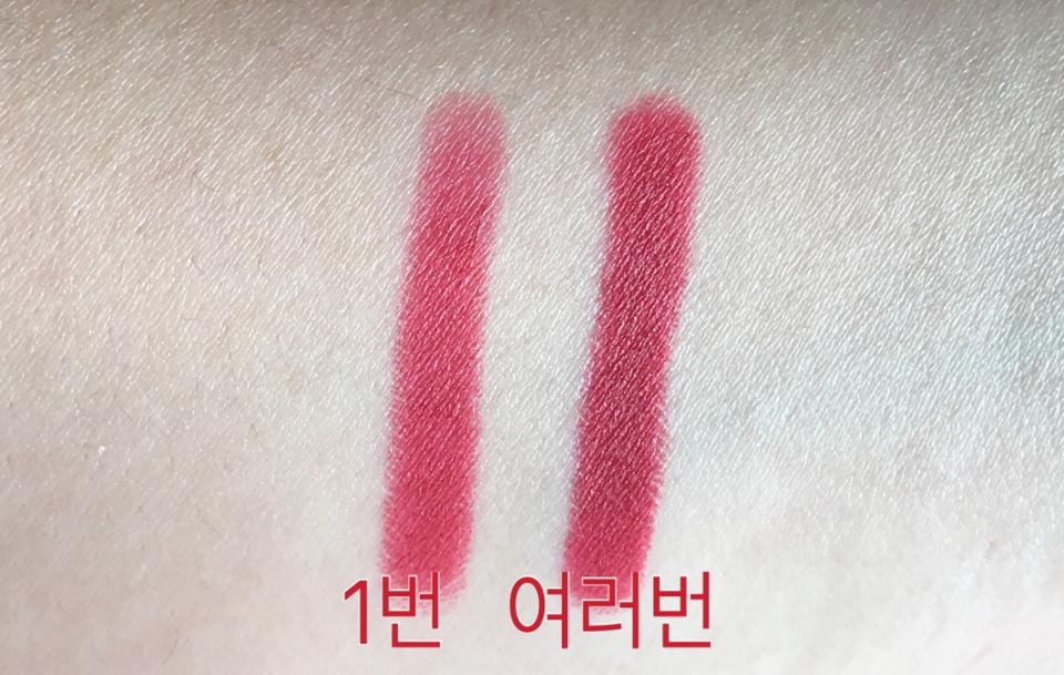 손등 발색 한번만 해도 발색이 좋더라고요 한번 할때는 레드에 핑크 빛이 돋는데 여러번 발색하면 버건디 빛이 많이 돌더라고요