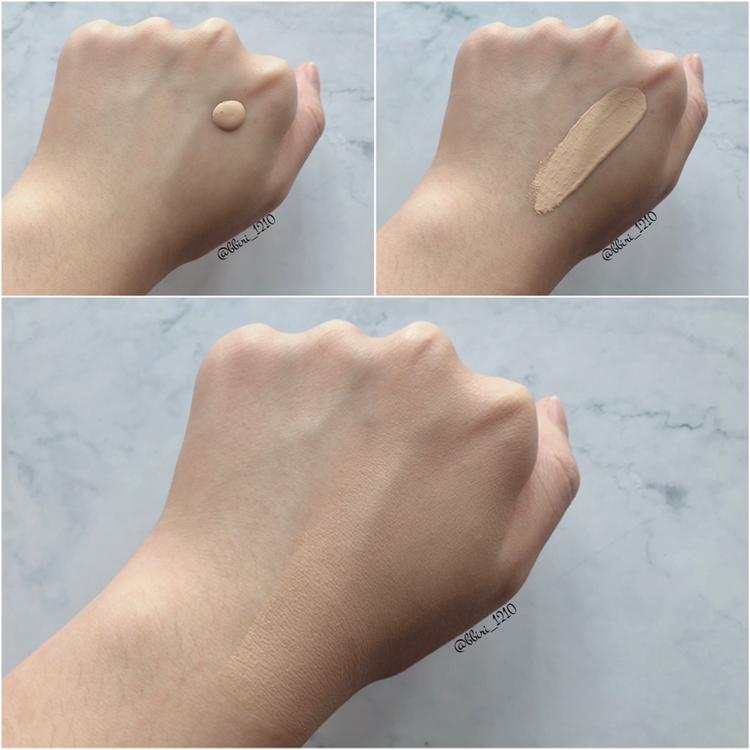 손등에 반만 사용해줘봤는데 정말 자연스러운 컬러였어요! 02 로지 포슬린 컬러 사용했습니다!