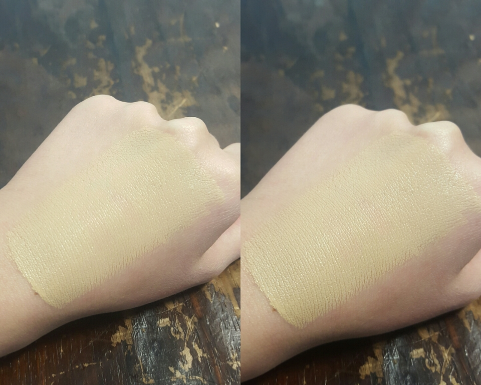 발림성은 생각보단 부드러웠지만 마무리감이 좀 뻑뻑했어요 더블웨어가 퍼프로 바르면 진짜 똥인데 브러쉬나 손으로 바르면 꽤 괜찮더라구요 신기하게 바른직후보다 바르고나서의 피부표현이 더 좋았어요