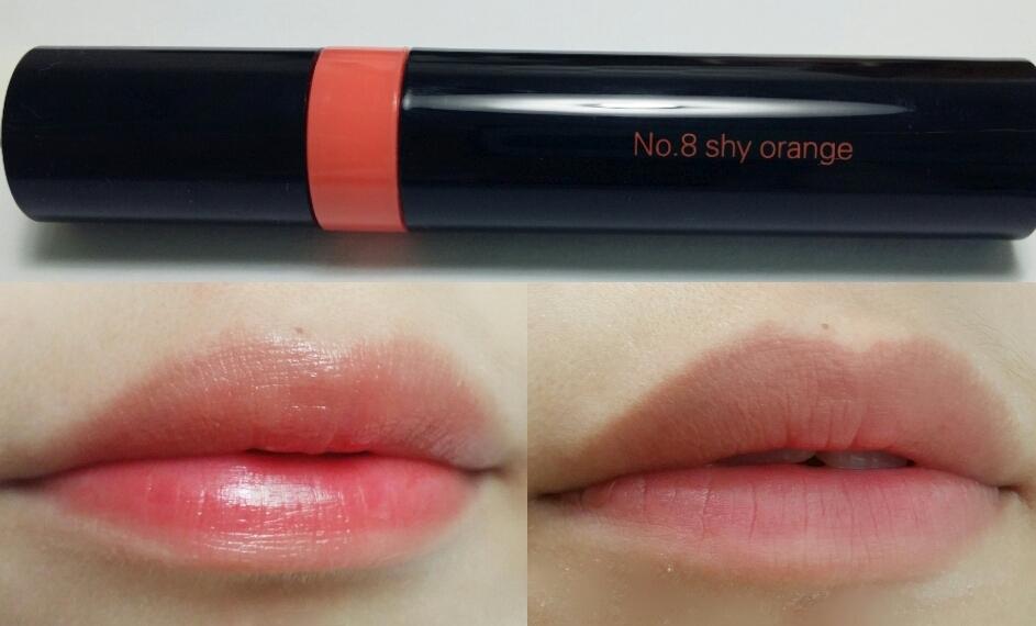 대망의 발색샷 8호 샤이 오렌지 설명이 필요없쬬? 오른쪽 밑 사진은 리무버로 지운 후에요  뭔가 베이비윙크랑 색상이 비슷한 것 같으면서도 달라요
