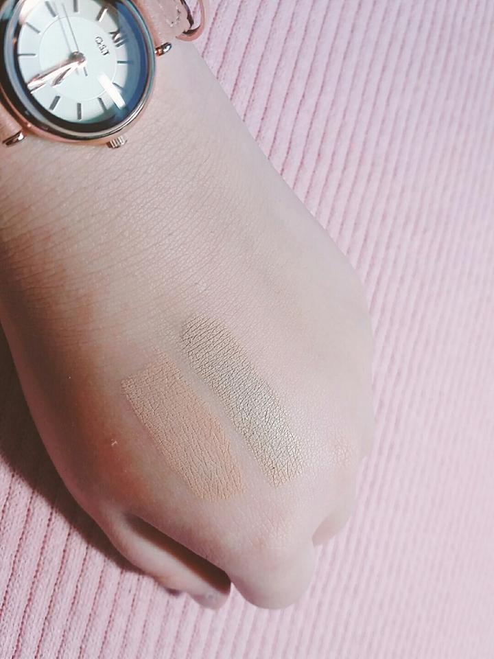 손에다발색을해봤는데.... 제손이얼굴보다 어두운데도불구하고 손에도어두웠어요...ㅜㅜㅜ 아쉽네요ㅜㅜ 좋다고해서 기대를많이했는데 안타깝께도쓸수는없네요...