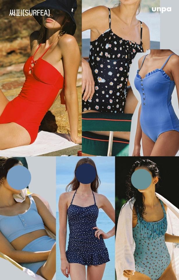 비치웨어에 관심이 많은 구독자라면 한 번쯤 들어봤을 써피, SURFEA는 미국 캘리포니아 해변과 일상에서도 건강한 라이프 스타일을 즐기는 여성의 모습에서 영감을 받은 애슬레저룩 브랜드로 편안하면서 개성 있는 스윔웨어를 볼 수 있었어!  편안해 보이는 골지 원단부터 아기자기한 프린트까지  국내에 있어도 마치 여유로운 캘리포니아 해변에 온 듯한 느낌을 줄 것 같아 >_<