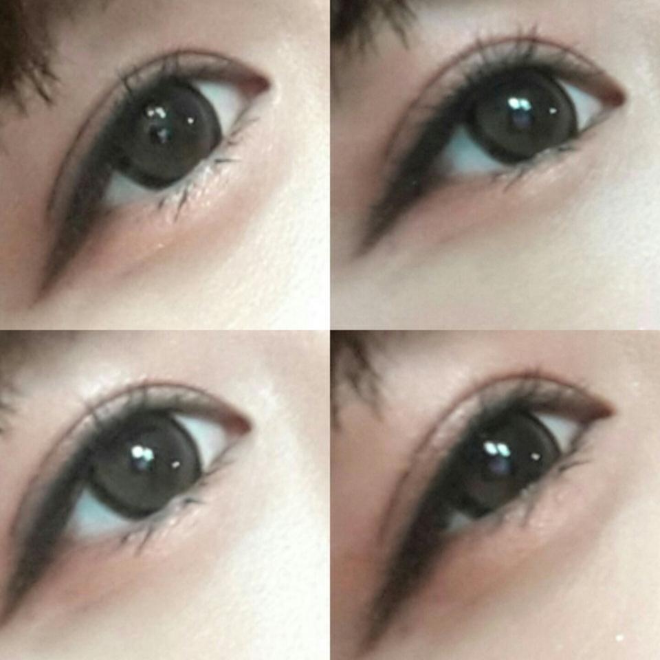 렌즈+아래속눈썹 마스카라 완성한눈이에요!!