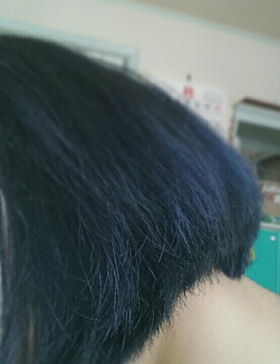 After!! 제대로 찍은사진이 없어서ㅎㅎ 블루블랙이라서 블랙에  빛비치면 블루가 보일줄 알앗는뒈 그냥 블루가 됐어요! 완전 네이비색!!