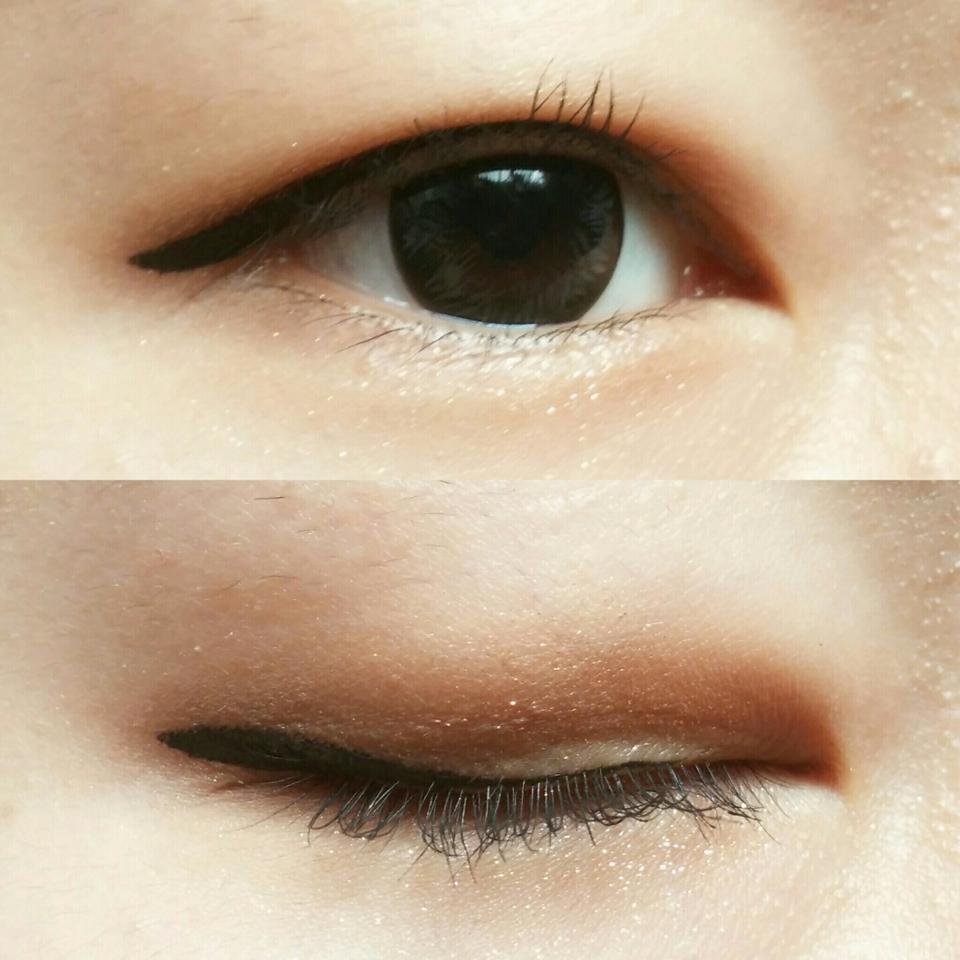 에뛰드 룩 앳 마이 아이즈 '머슬마니아' + 누드 섀도 '2,3,4번'으로 눈화장을 했습니다