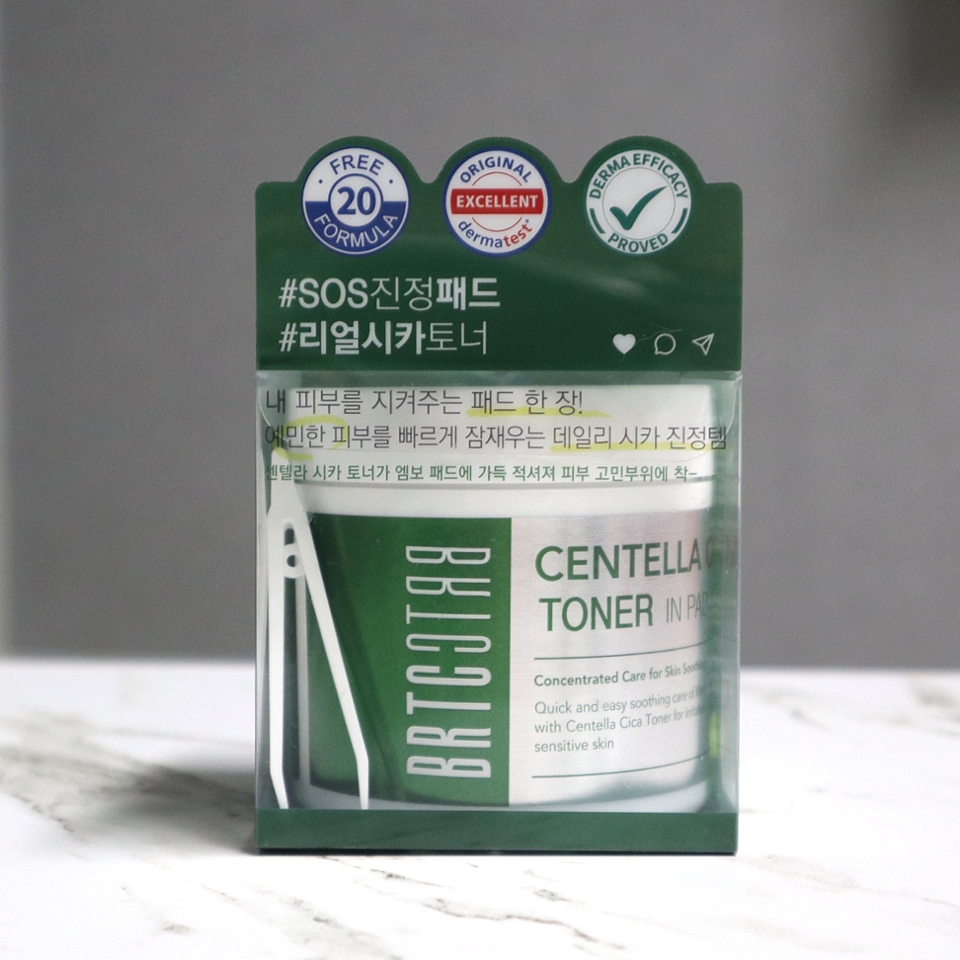 """BRTC 센텔라 시카 토너 인 패드  165ml(80매) / 39,000     """"예민해진 피부 진정보스""""  """