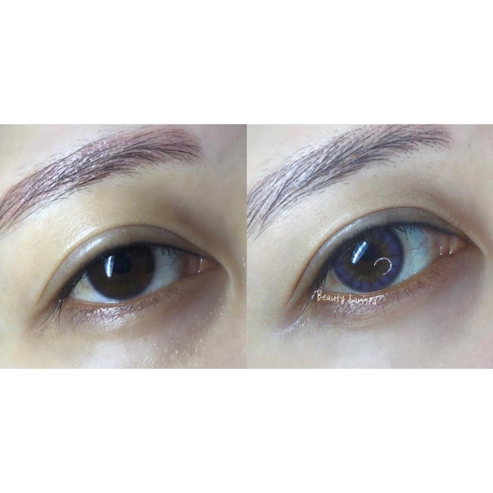 흐리멍텅 해가지고 기운없어 보이는 눈동자에 렌즈 착용하니까 좀더 또렷한 눈빛 연출과 더불어 아련아련 매력적인 컬러로 이쁨장착 ^^