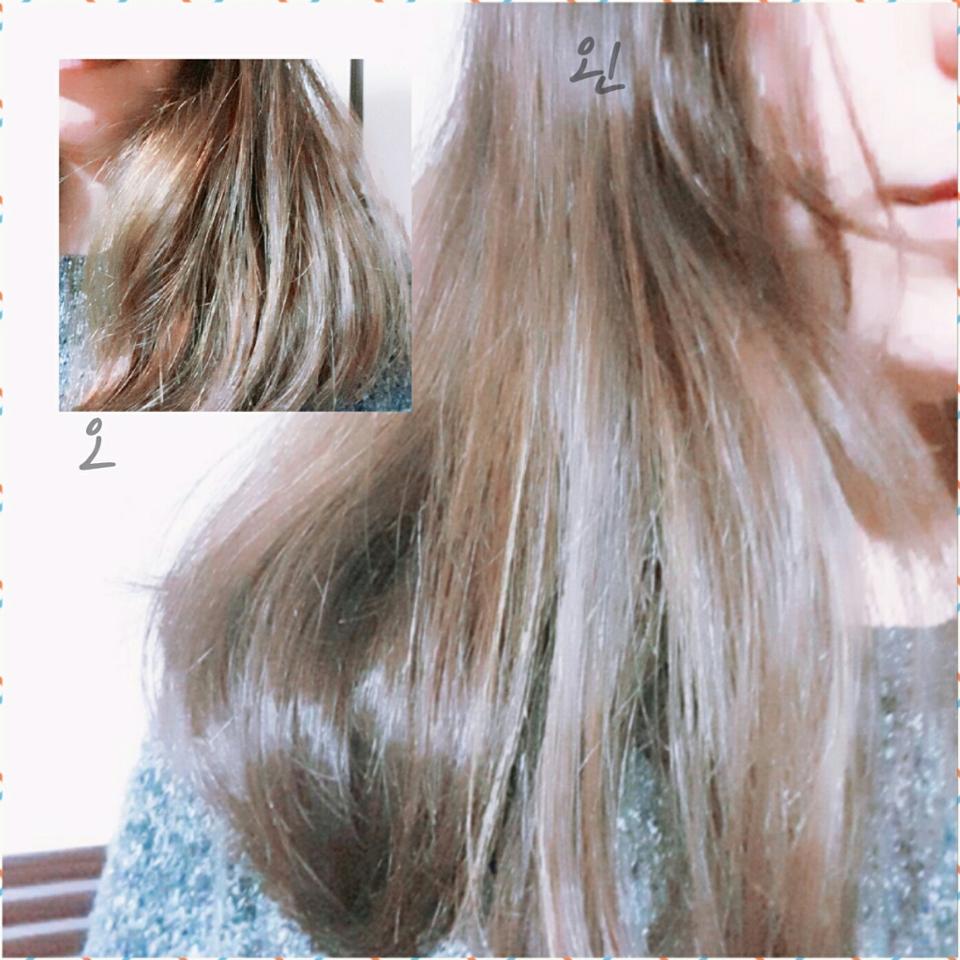 before 🤓 (반곱슬, 손상모, 중간 긴머리? )