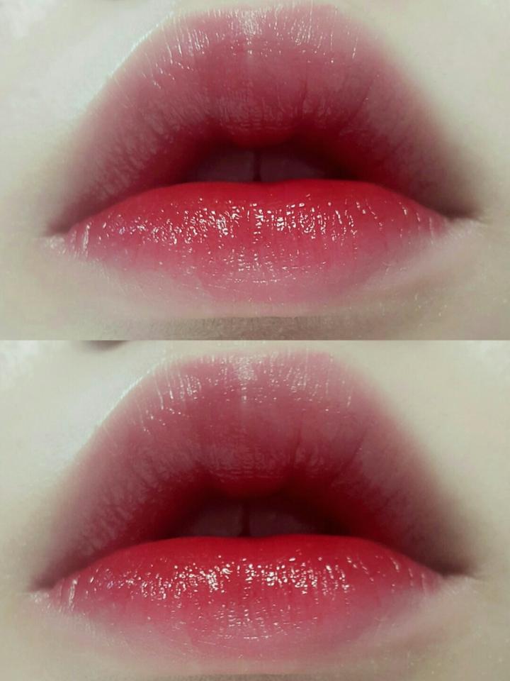 보습력이 있는 촉촉한 버건디 립스틱을 입술 전체어 톡톡 두드려 그라데이션시켜주면 메이크업 완성!!(클리오 스테이 샤인 립시럽스틱 06 위시풀레드) 오늘 메이크업은 립과 아이에 충분히 존재감이 있어서 블러셔는 생략하겠습니다!!!