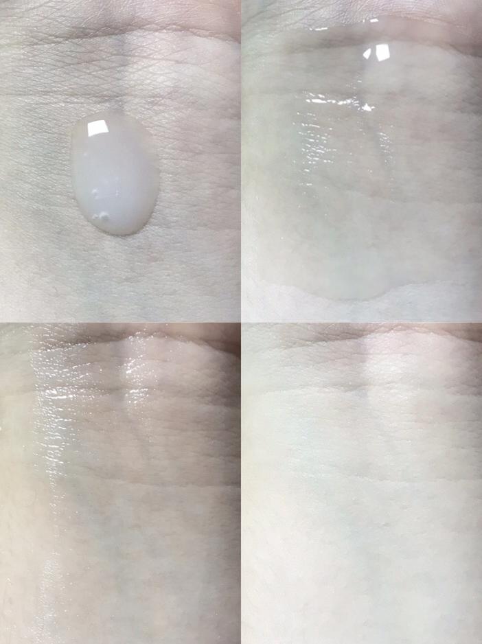 제형은 반투명한색에 흐르는제형에 촉촉한 제형이에요  세안 후 속건조가 살짝 있는편인데, 토너로 얼굴 한번 닦아주고 이 세럼을 발라주면 속건조를 잡아주면서 촉촉하고 피부에 금방 스며들고 피부결이 부드럽고 매끈해져요 !! 👍🏻