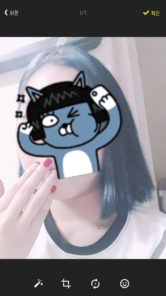 아직 하루도 안지나서 물빠지는건 잘모르겠는데 안빠졌으면 좋겠네요ㅠㅠ  ☆☆총평☆☆ 저는 블랙을 하려했지만 개인적으로 블루가 색이 이쁘게 나와서 만족중입니다~~  허접한 염색은 이대로 마무리~