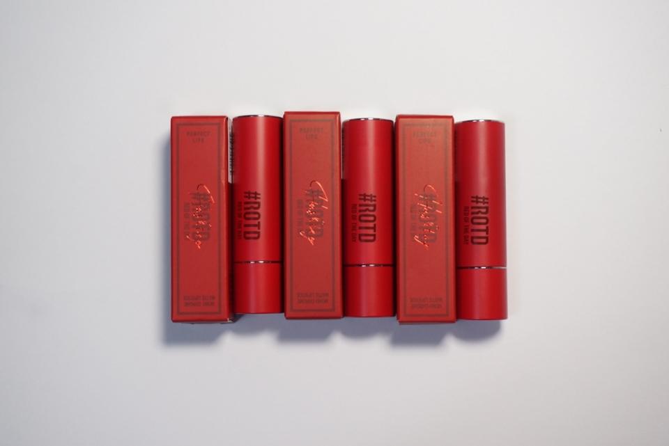 안녕하세요! 이번에 토니모리에서 출시한 레드컬렉션 립스틱 3종을 가져왔어요