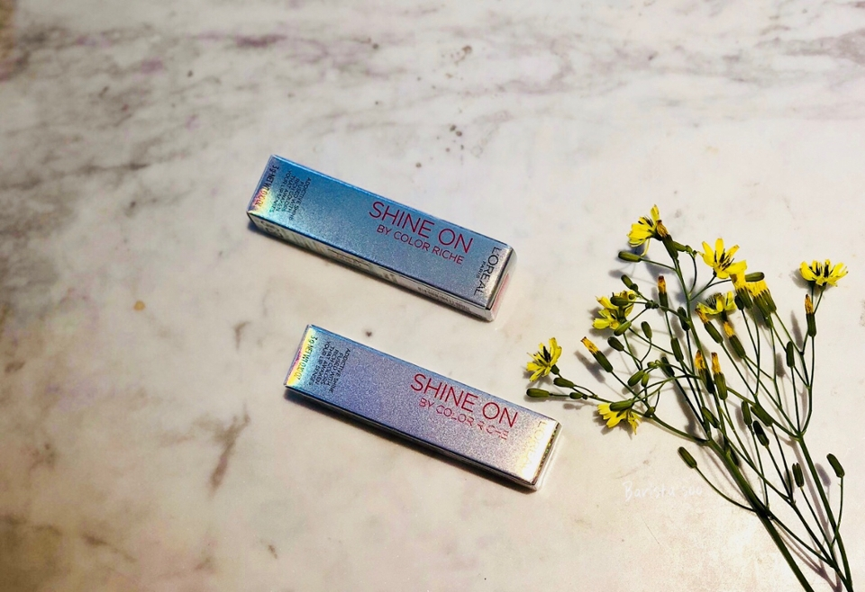 케이스마저 샤인샤인 하는 로레알파리 립스틱 💄  처음사용해본데 설레요 +_+