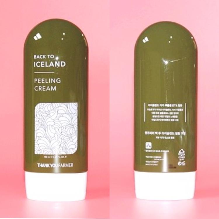 케이스와 동일한 디자인으로 매끈한 광택감이 돋보이는 땡큐파머 백 투 아이슬란드 필링 크림 ✨✨