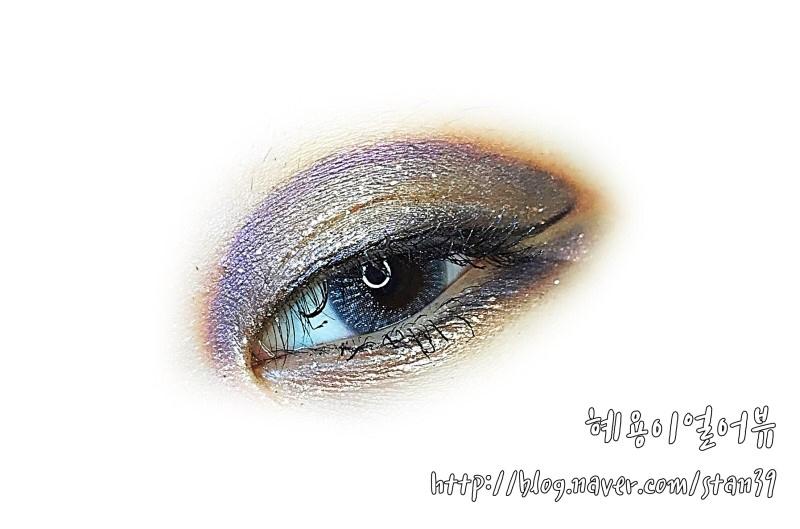 오렌즈 글로리 , 그레이 너무 예뻐서,  메이크업도 은하수 느낌을 살짝 내보아써오..! 웜토니가 보라 & 남색 컬러를 쓴, 역사적인 날!