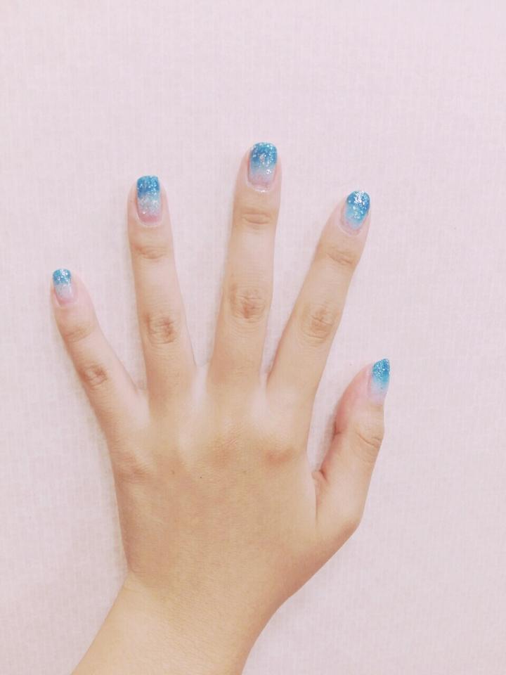 2.손가락에찍는다