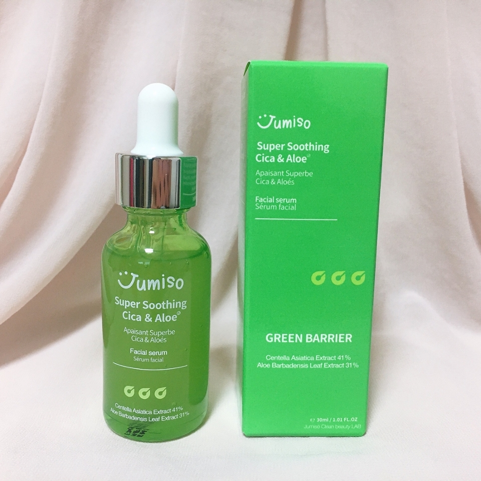 그중에서도 피부 진정에 좋기로 유명한 병풀 추출물이 41% 약 410,000ppm 함유되어 환절기 더욱더 예민해진 피부에 진정을 도와주고 알로에베라잎 추출물이 31% 약 310,000ppm 함유되어 약해진 피부 컨디션을 빠르게 회복시켜 주어요