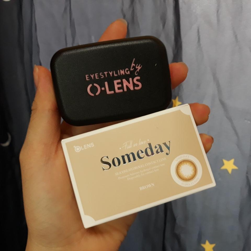 상자에 들어있답니다 ! 그리고 오렌즈에서 주는 렌즈통은 만족만족