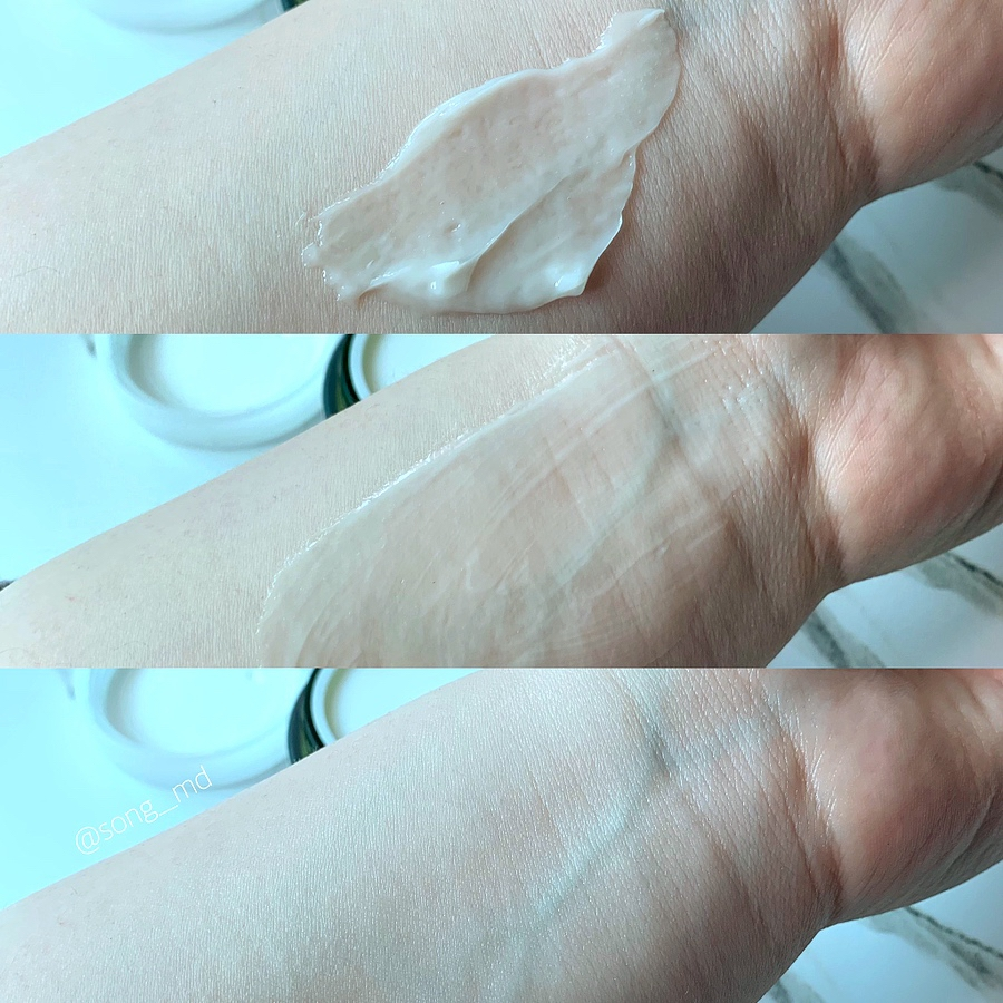 쫀쫀하고 리치한 질감의 크림이 피부에 닿아서 보습막을 만들어 주는 듯 피부 흡수 직후 결이 매끄러워지고 속부터 수분이 쫙 채워지는 느낌이에요  제형 자체가 겉돌지도 않고 영양분이 쫙쫙 흡수되네요 :)   